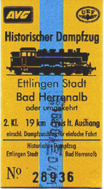 "Link to ""Historic fast steam-train"" of Ulmer Eisenbahnfreunde e.V."